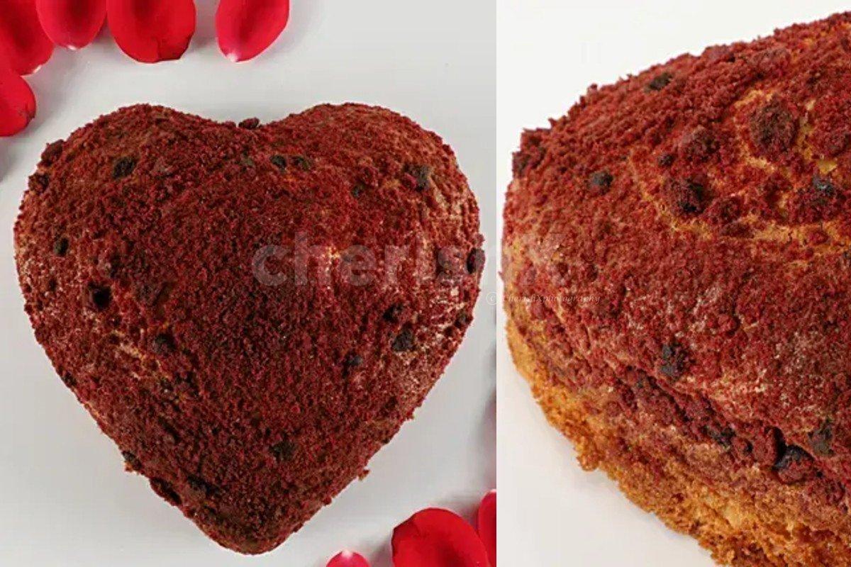 Red velvet dry cake