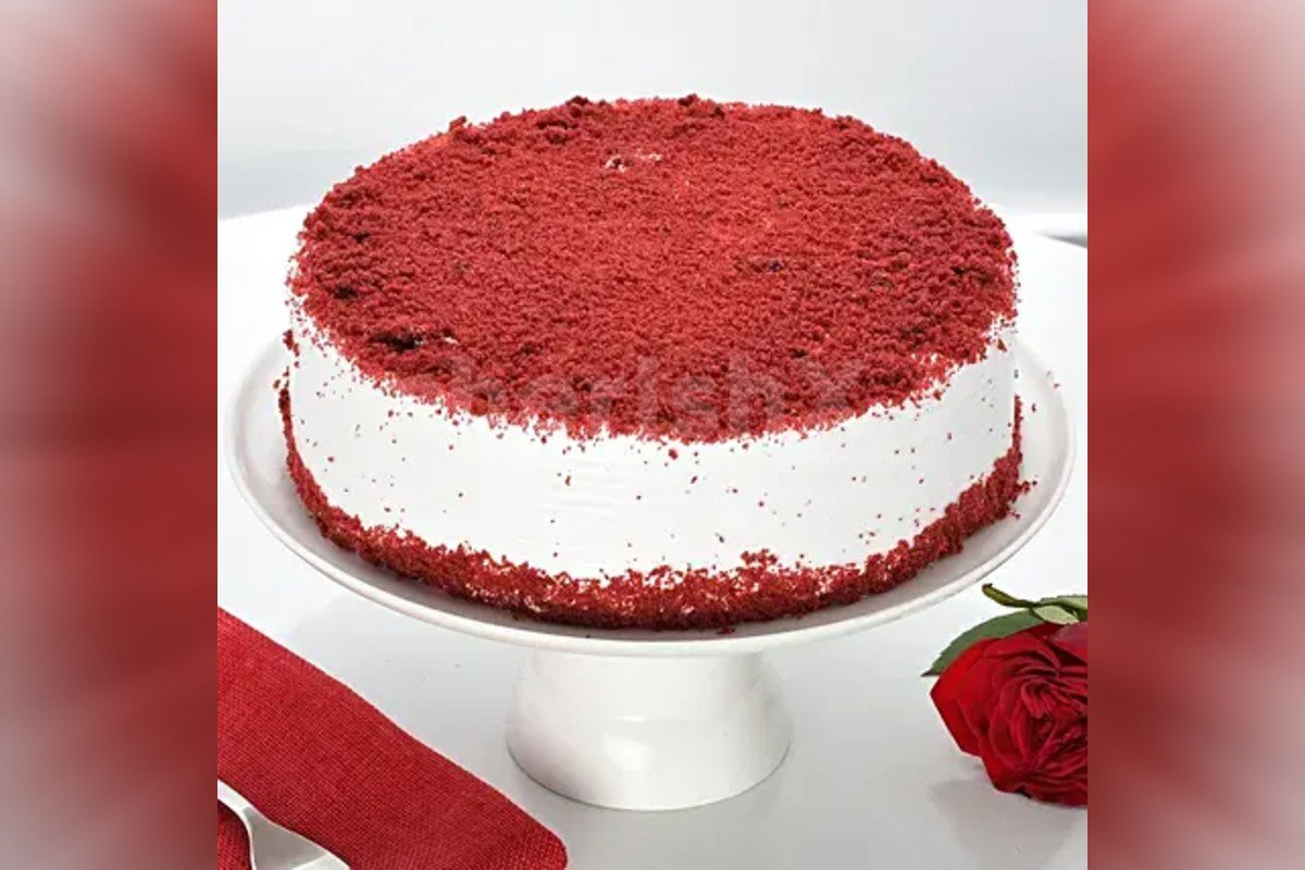 Fresh red velvet cake delivered to your home
