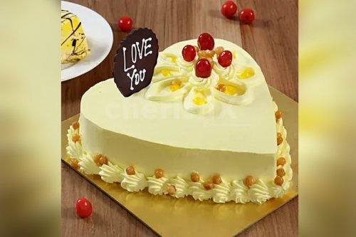 Heart Shape Butterscotch Cake (Half Kg)