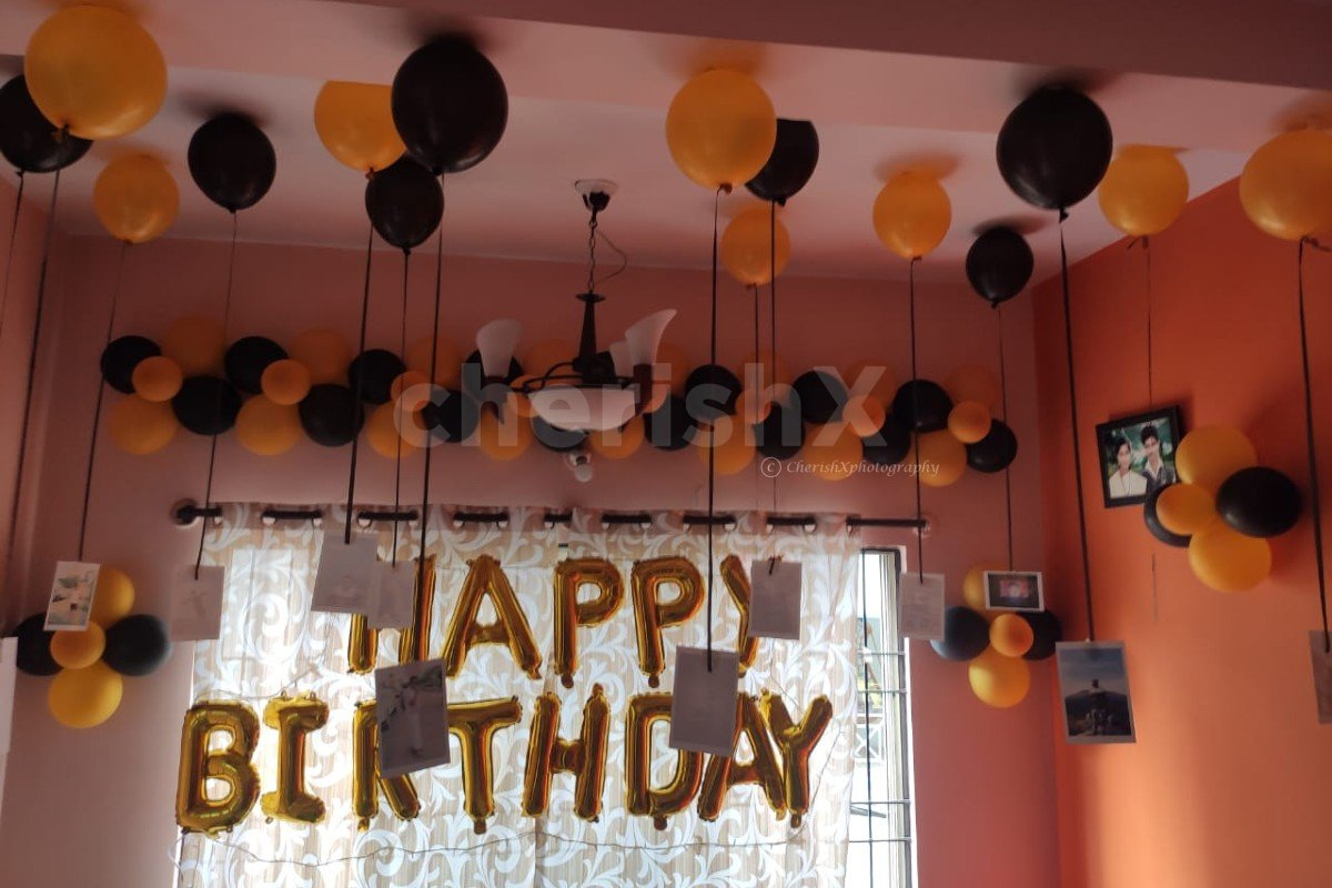 Birthday Special Balloon Decoration for Husband