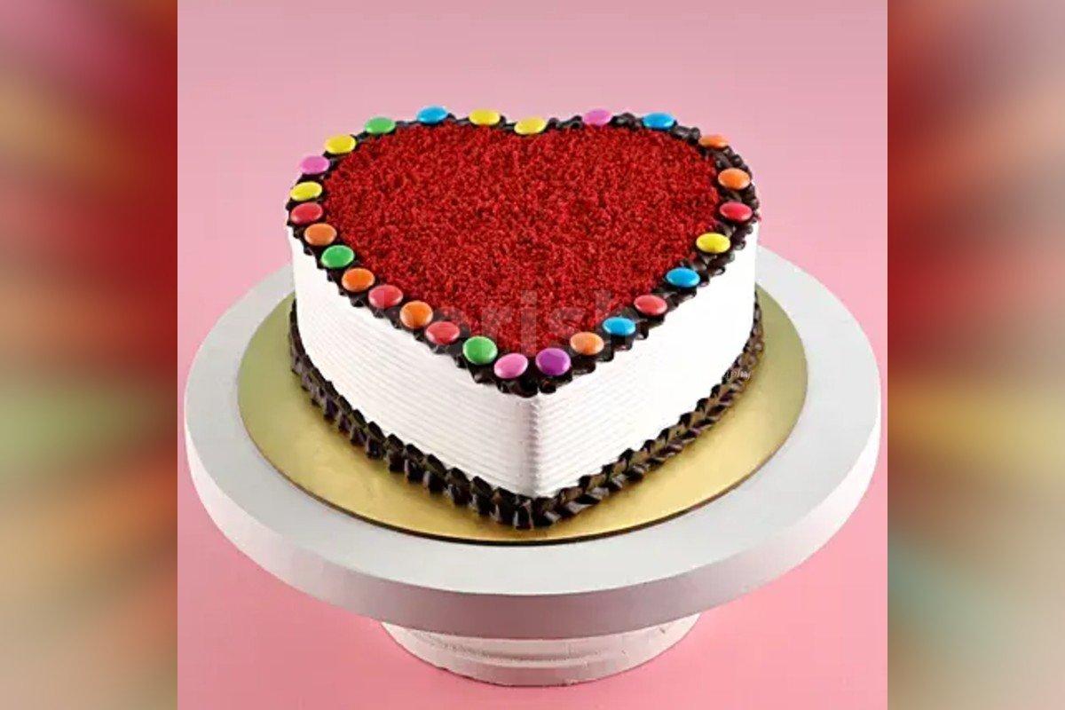 500 gms Red Velvet Gems cake delivery at home