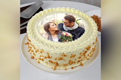 Butterscotch Photo Cake (Half Kg)
