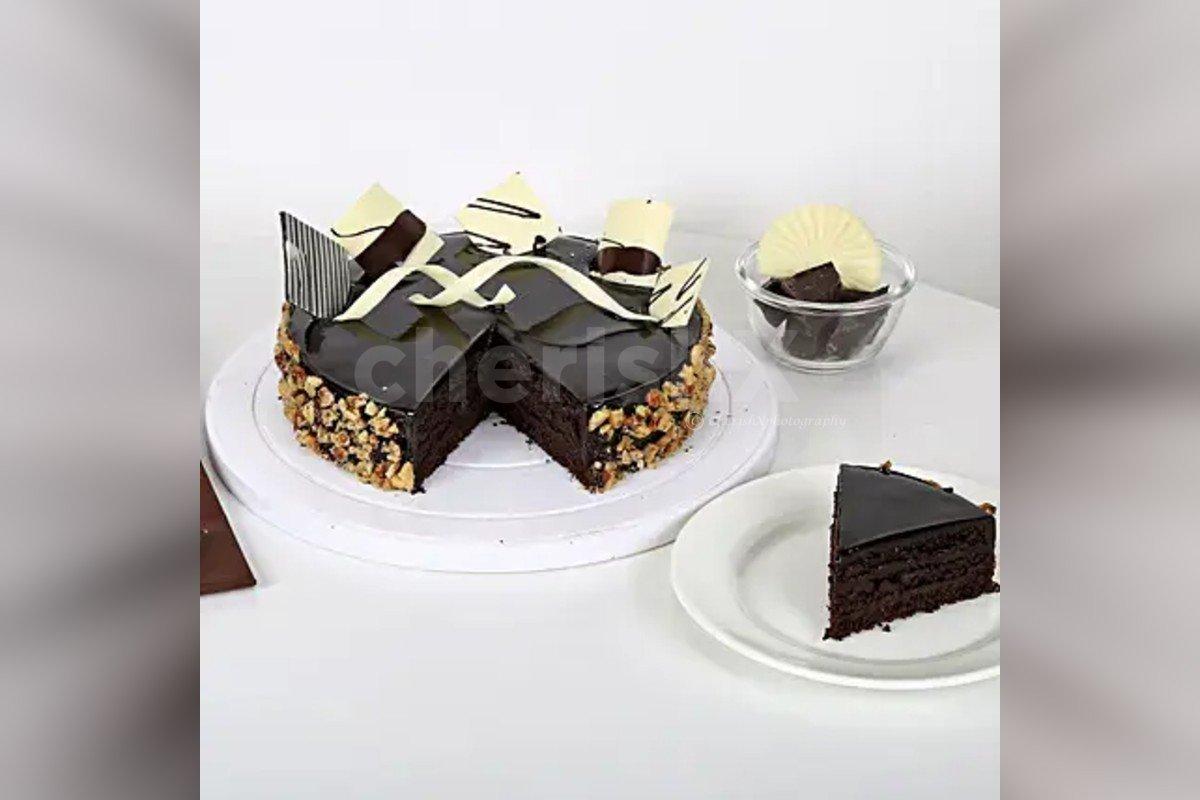 Chocolate truffle walnut cake home delivery
