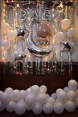 DIY Baby Shower Silver Decoration Kit