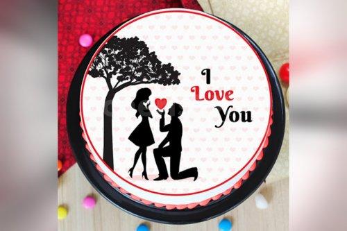 Love Photo Cake (Half Kg)