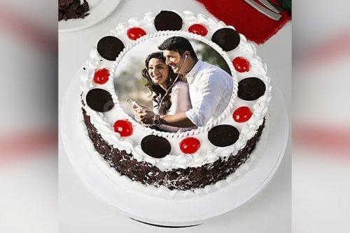 Black Forest Photo Cake (Half Kg)