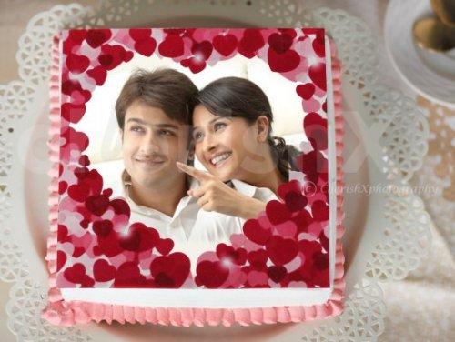 Anniversary Photo Cake (Half Kg)