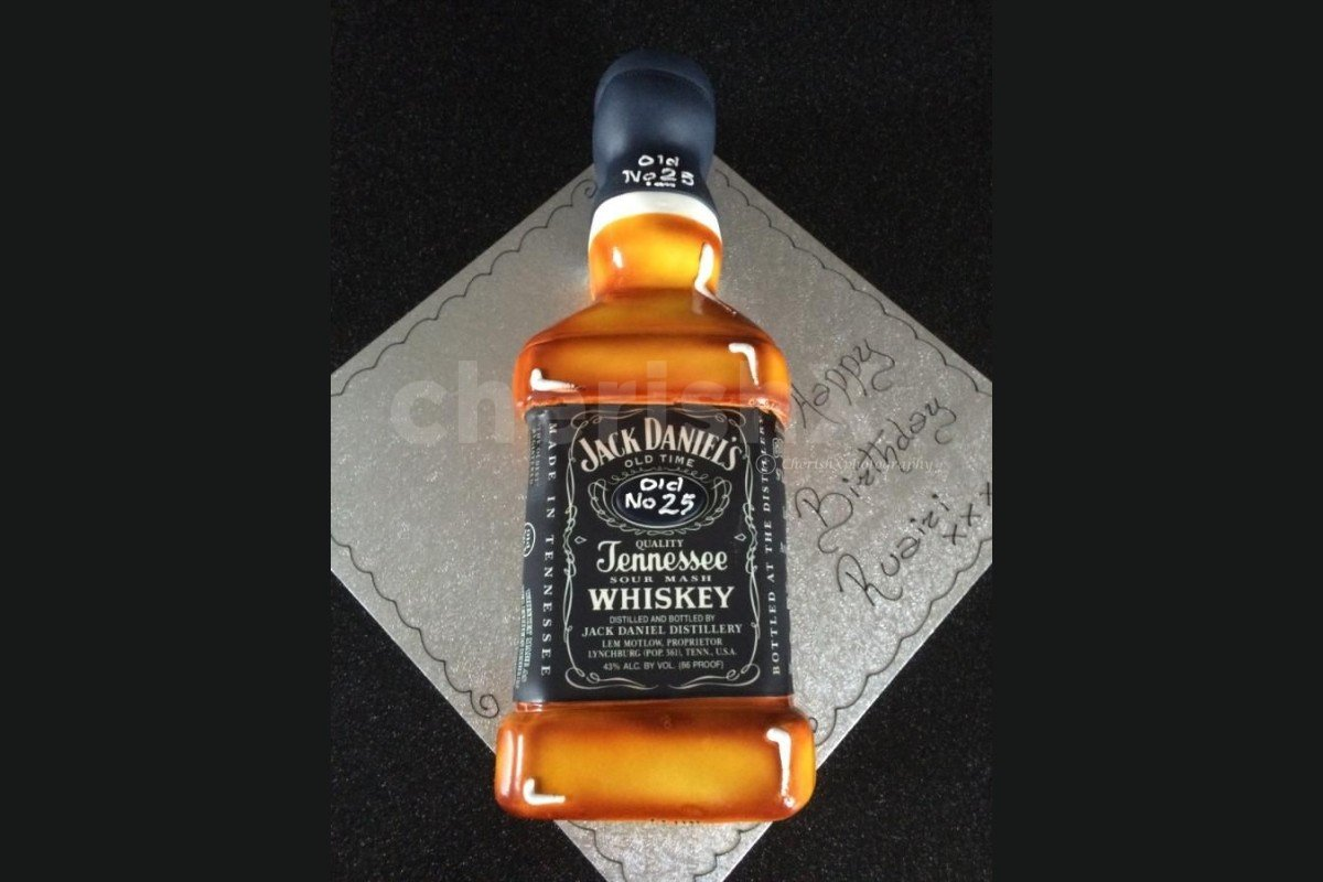 Jack Daniel designer cake delivery at home by cherishx