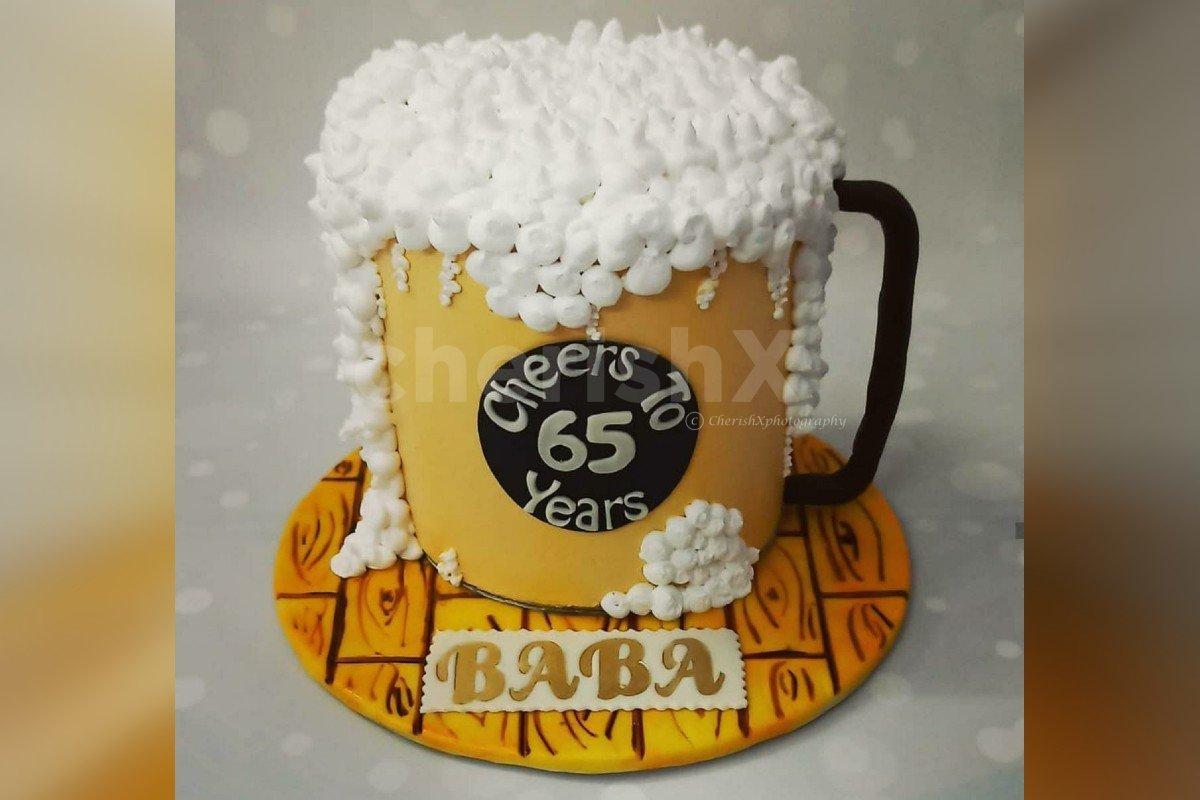 Beer Mug designer cake delivered at home