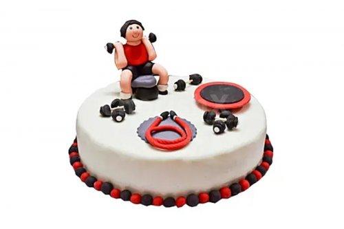 Gym love fondant designer cake home delivery