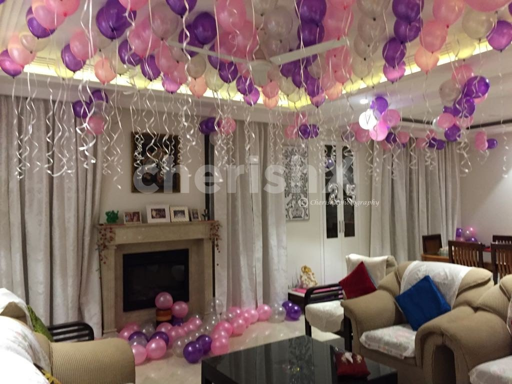 Anniversary special balloon surprise decoration