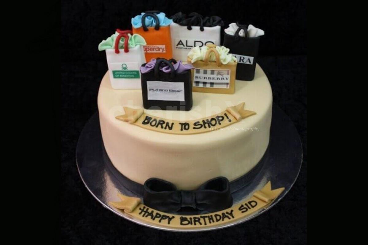 Shopping Love theme designer cake online delivery