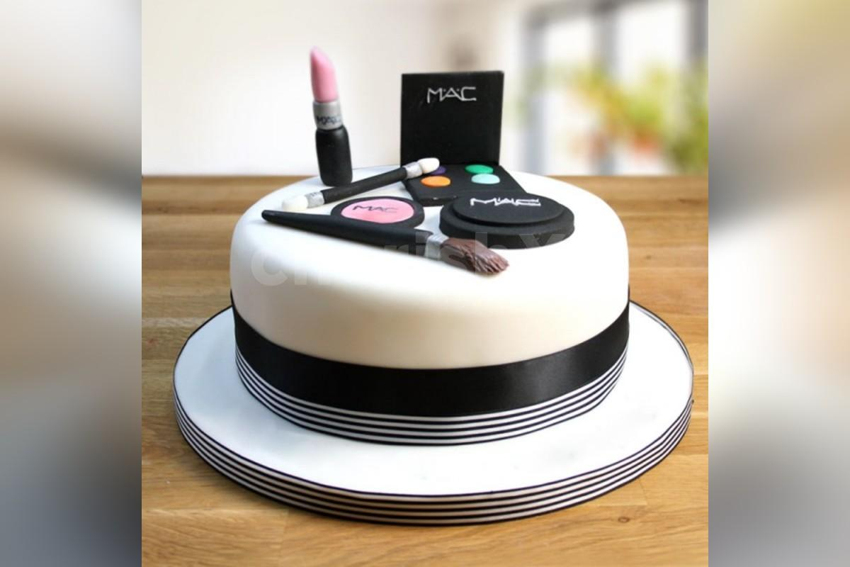 Makeup theme designer cake online delivery by cherishx