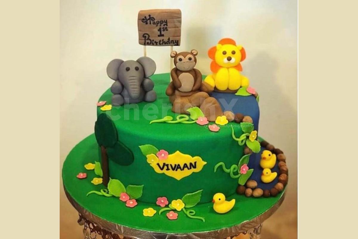 Jungle theme designer cake online delivery