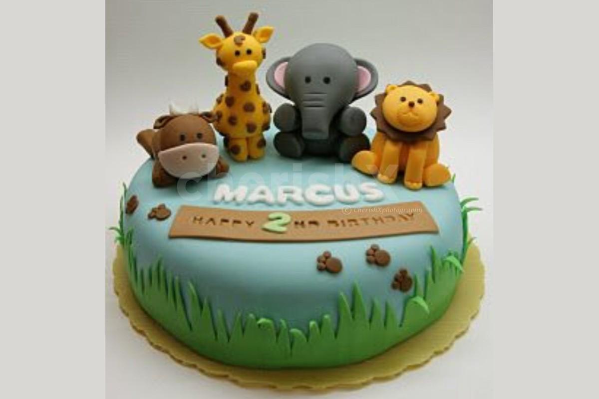 Jungle theme designer cake online delivery by cherishx