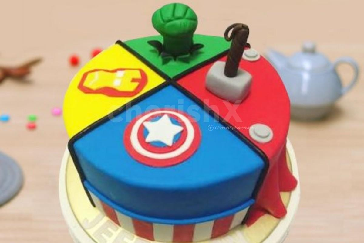 Superhero Theme Designer Cake