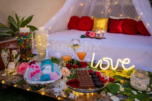 Rooftop romantic cabana dinner by cherishx