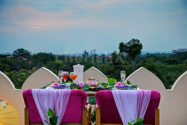 Romantic rooftop dinner by cherishx