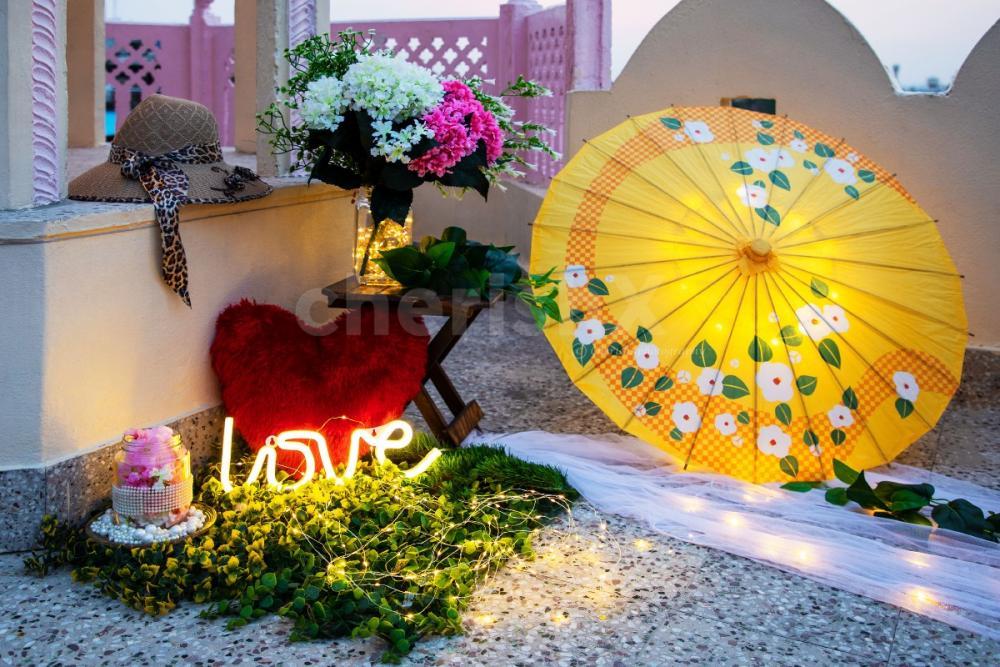 Beautiful Romantic rooftop dinner by cherishx