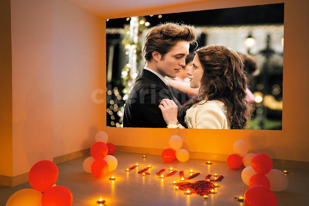 Book Private Movie Screening Setup with Candlelight Dinner in Gurgaon