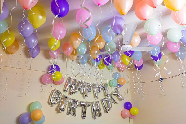 Pastel balloon decoration by CherishX