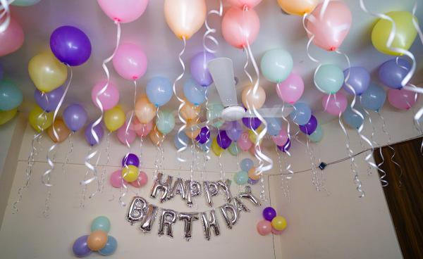 Beautiful and cute pastel balloon decoration