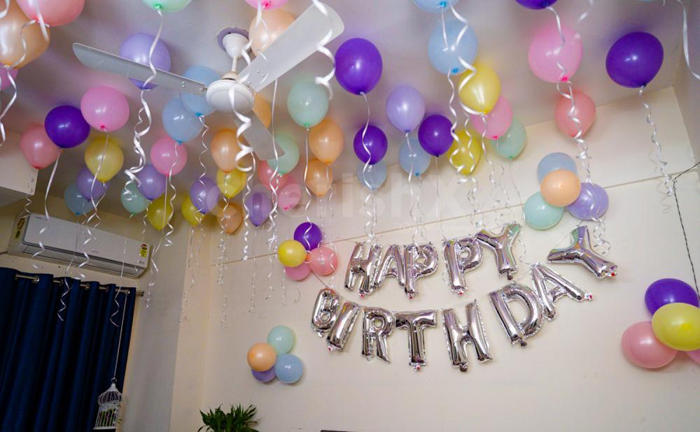 Multicolor pastel balloon decoration by cherishx