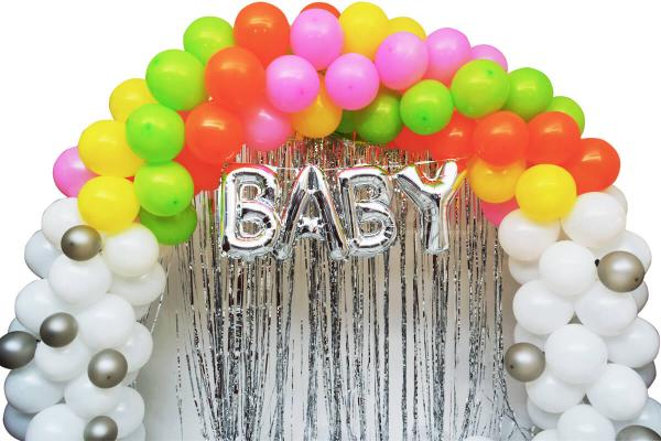 Multicolor Baby Shower Decor