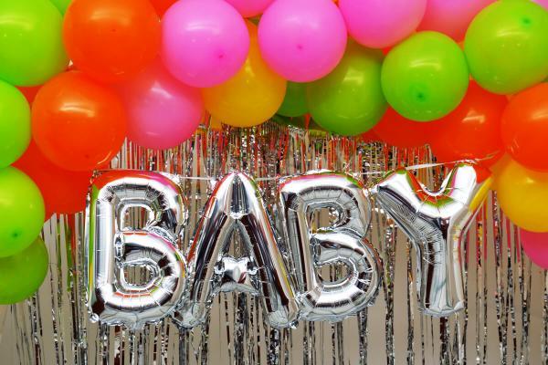 Multicolor baby shower decoration