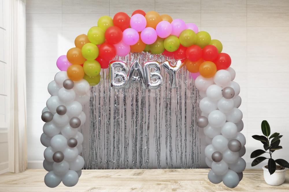 Multicolor baby shower decoration by cherishx