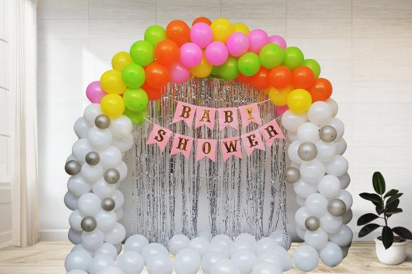 Simple and elegant baby shower decoration
