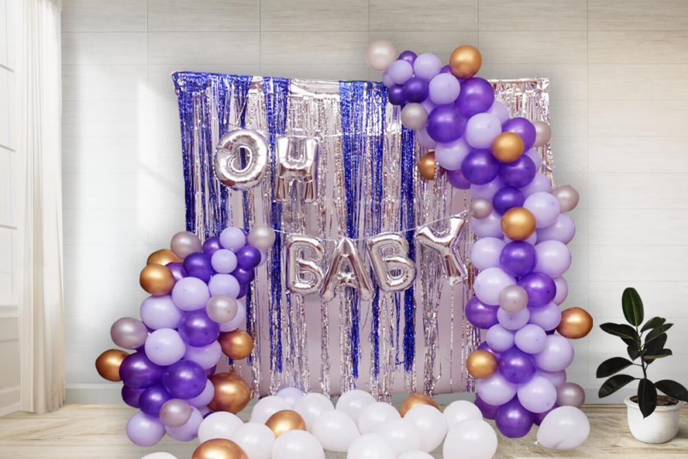 Purple Baby Shower decoration