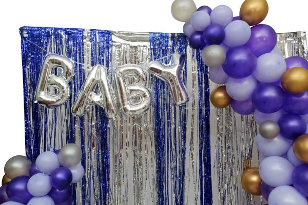 Purple Baby Shower decoration by cherishx
