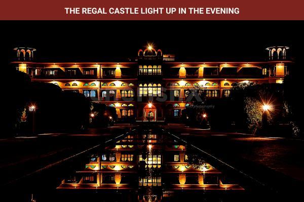Umaid Lake Palace at night with Lighting