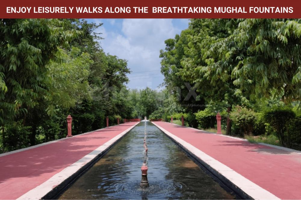 Enjoy Walks across Mughal Fountains