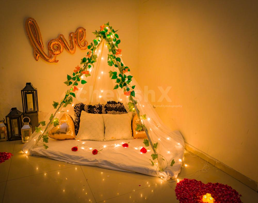 Book your very own Romantic canopy at home.