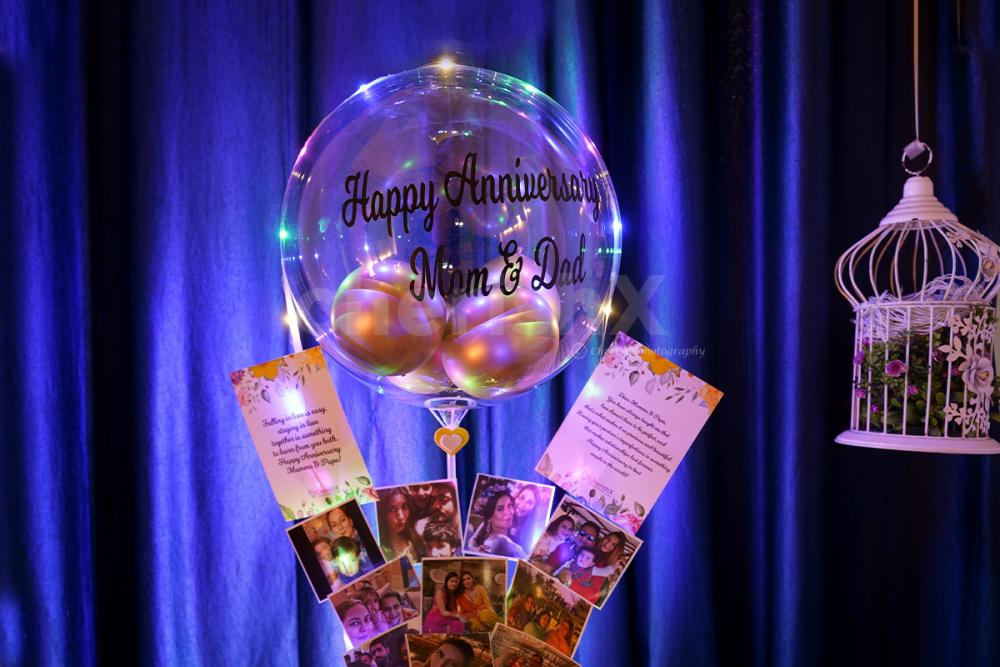 Through our expressive Love bubble and pictures bucket make your loved one day special only with cherishx
