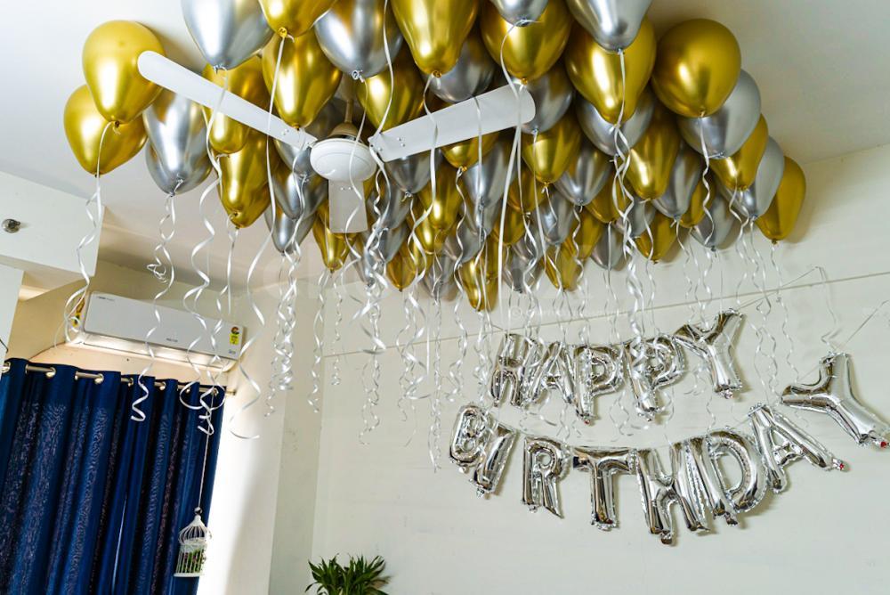 Golden Silver Chrome Balloon Decoration