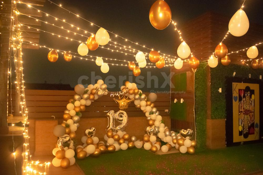 Balloon Arcs and Number Foil Balloons for Birthday Age