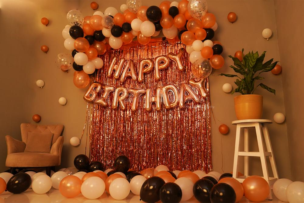 Rose Gold Theme Birthday Decoration for your Wife's, Girlfriend's or Daughter's birthday.