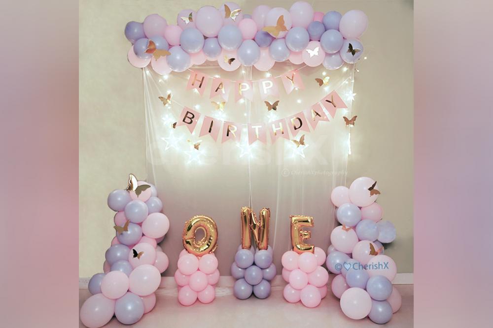 Butterfly Theme Birthday Decoration for Kids Birthday