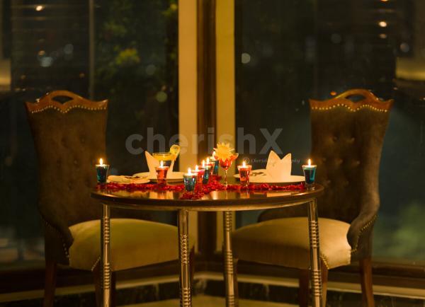 Romantic indoor dinner in Dwarka