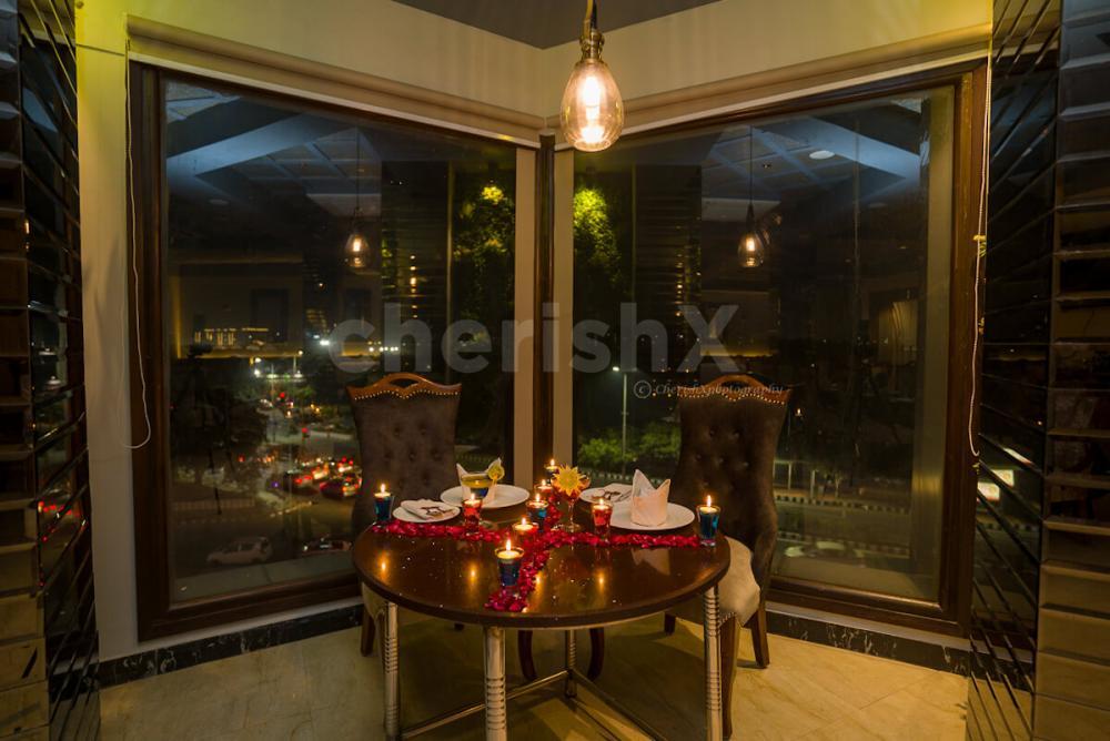 Romantic indoor dinner in Dwarka by cherishx
