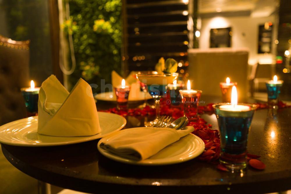 Cherishx Romantic indoor dinner in Dwarka