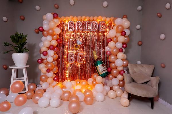 The bride's bachelorette decor
