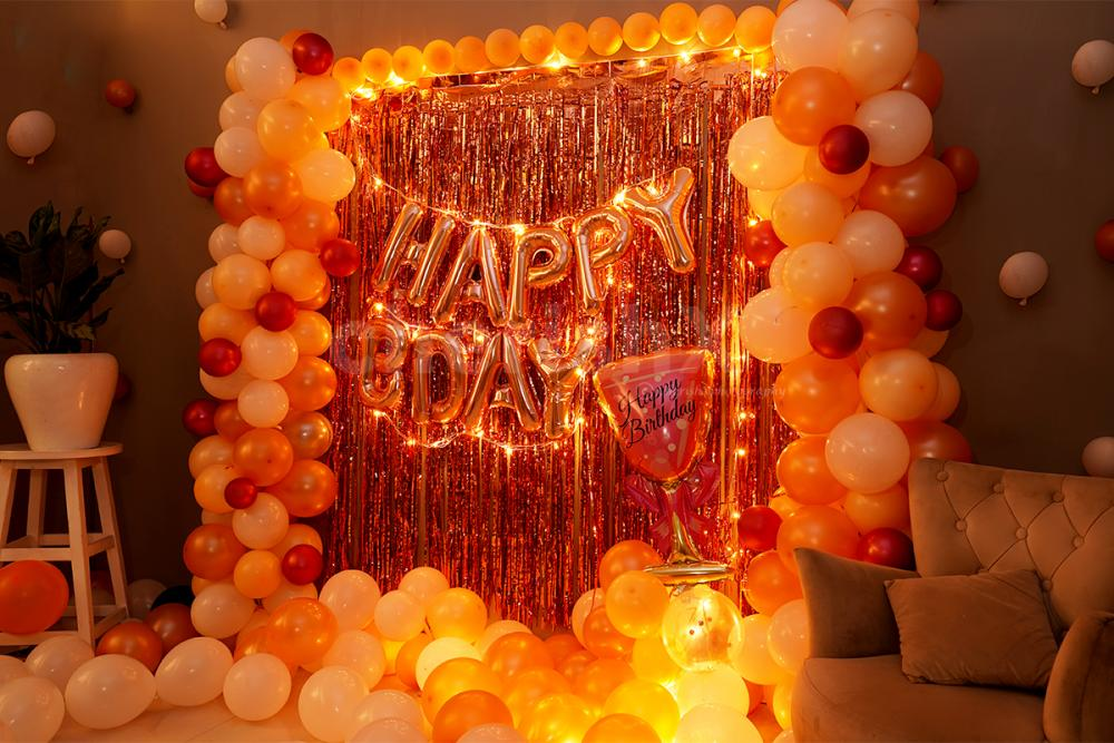 Surprise your loved one with this Glorious Rosegold Birthday room decor at home.