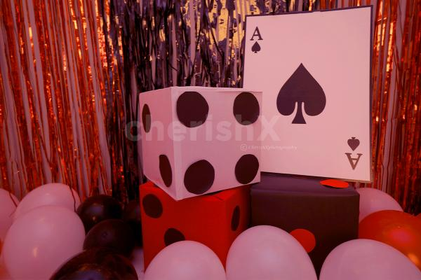 Cube Dices of 1ft with a Card Cut-out added to enhance the Birthday Decoration.