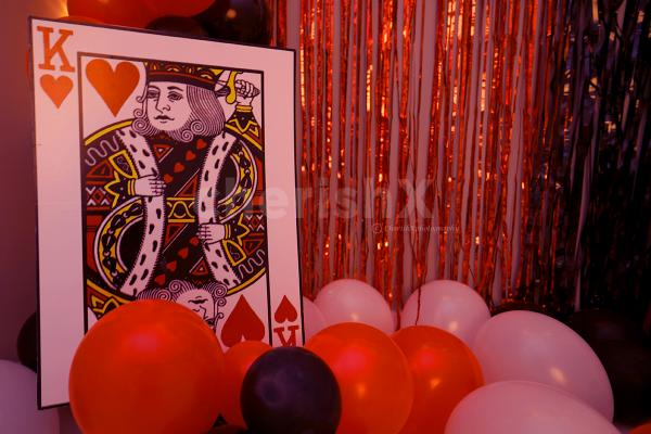 King Card Cut-out to add on to the Casino Room Decoration.