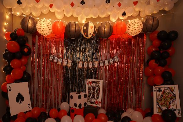 Casino Theme Birthday Decor