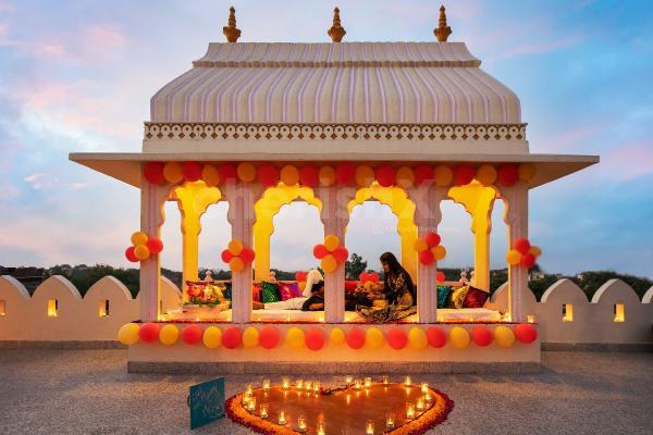 Royal baradari dinner in Jaipur